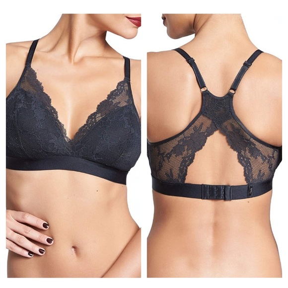 Chantelle Other - CHANTELLE Everyday Lace Bralette NWT BLACK SMALL